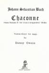 J.S. Bach / Dewey Owens - Chaconne from Sonata IV for Unaccompan