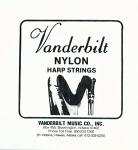 Нейлоновые струны Vanderbilt для педальной арфы, 4 октава