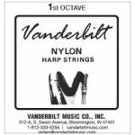 Струна Ми (E) 1-й октавы Vanderbilt, нейлон, для педальной арфы