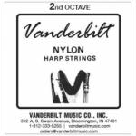 Струна Ля (A) 2-й октавы Vanderbilt, нейлон, для педальной арфы