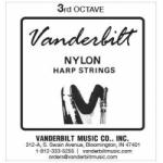 Струна До (C) 3-й октавы Vanderbilt, нейлон, для педальной арфы