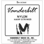 Струна Ми (E) 5-й октавы Vanderbilt, нейлон, для педальной арфы